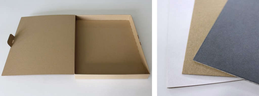 T-shirt box and card colours