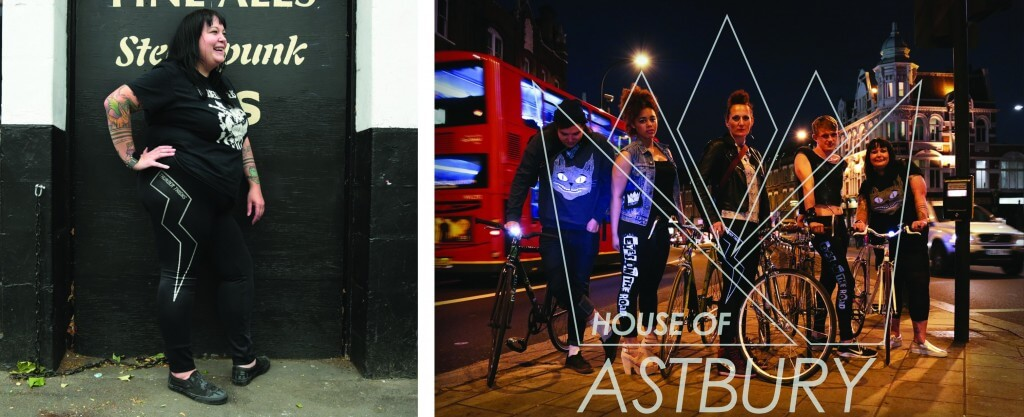 The leggings pictured were screen printed with reflective ink for cycling brand House of Astbury.