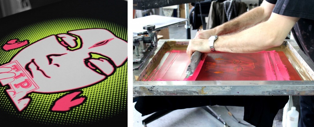 Fluorescent screen printing ink