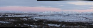 This is the Brooks range as seen from the Toolik Field Station.