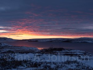 The sunset during our first night at the Station. Toolik Lake is in the foreground.