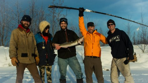 Success, my first burbot through the ice in Alaska!