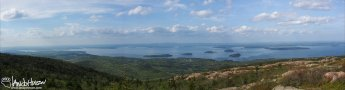 The views from the highest points along the East Cost of the US - Cadillac Mountain, Acadia National Park, Maine