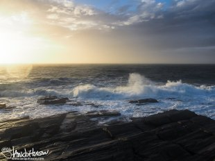 An incredible sunrise off the coast of Maine the morning after Hurricane Sandy ravage the coast.