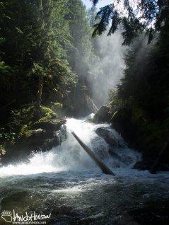 A cascade of water from Snow Creek Falls, Idaho.