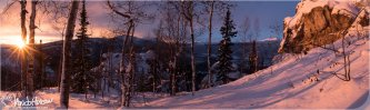 The incredible and beautiful light of the Arctic Winter from the top of Angel Rocks, Chena Road, Alaska.