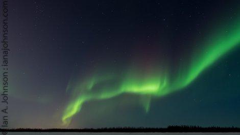 Northern Lights over Tanana River, Fairbanks, AK 02/07 - 02/08/14
