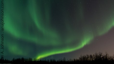 Northern Lights over Tanana River, Fairbanks, AK 02/07 - 02/08/14