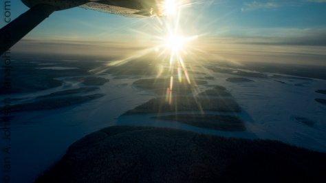 The Yukon River just outside of Fort Yukon, AK