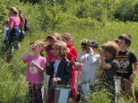 Kids learn about birds, birding and get great looks at birds at Riverpoint Conservation Area, West Falmouth, Maine