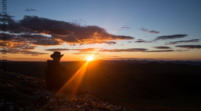 The Midnight Sun on Eagle Summit, Alaska