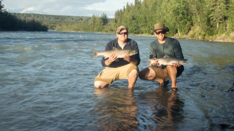 Fishing Success! A pair of first 'reds' for two happy Klutina River fishers!
