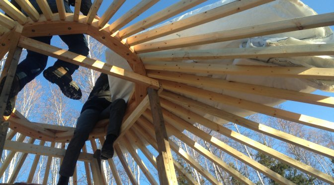 Raising a Yurt in Fairbanks