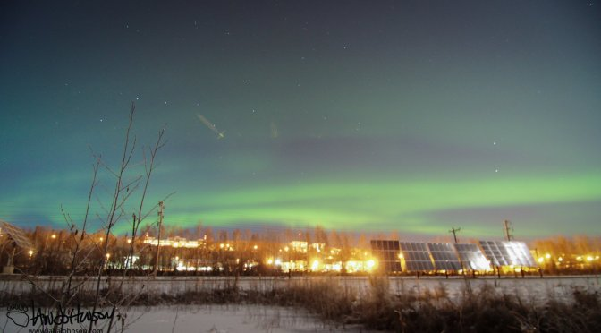 An Industrial Aurora Over the University of Alaska Fairbanks