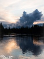 August 16th : Dramatic clouds in a sunset over Chena River