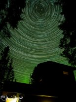 October 9th : Stars over my house and the Aurora Borealis