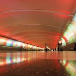 October 30th : Light tunnel in Detroit Airport