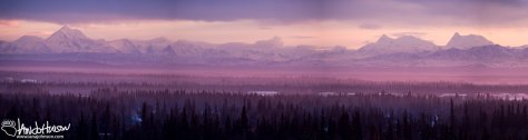 4:29 PM : As I got back into town the Alaska Range (South of Fairbanks) was lit up by the low sun. The mountain range is always beautiful, but on nights like this you cannot stop watching! The pinks and purples of this sunset were amazing!