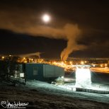 February 4th : Inversions and the full moon at University of Alaska Fairbanks