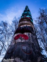 February 18th : Totem Pole at the University of Alaska Museum of the North