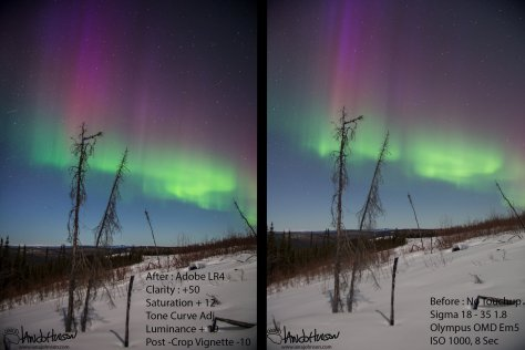 Purple Aurora Comparison