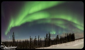 4 image stitch of the aurora