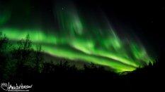 A towering green aurora.