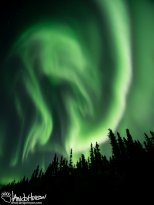 Like two circus performers, this these bands of aurora are folded together like they are dancing with each other.