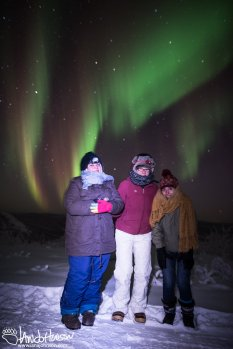 A Happy Trio under the Aurora!