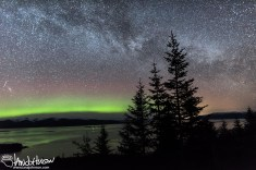 A single image capturing the beauty of the Milky Way from Hoonah, Alaska