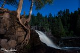 I love how the reoots of this cedar tree help set the scene at the lower falls of Gooseberry State park