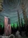 Aurora Star Spin Flag