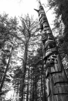The house pole of Chief Son-I-Hat.