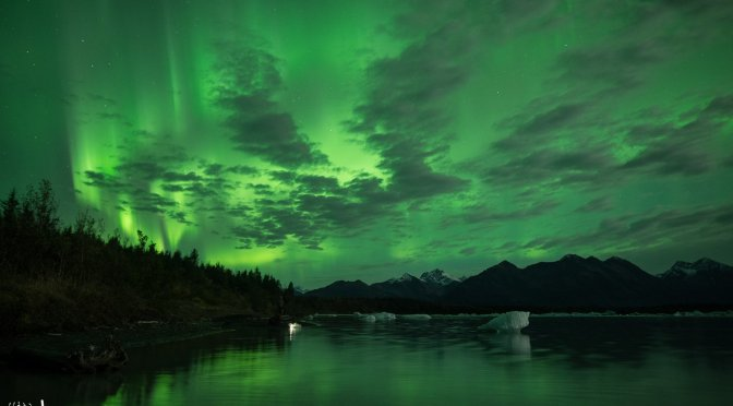 The Lights and 'Bergs of Yakutat, Alaska