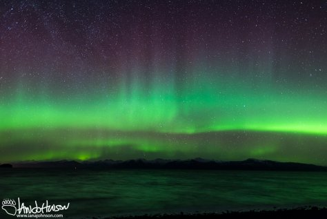 Aurora, Hoonah, Creative Photography, Alaska, Green, Ocean, Icy Strait, Mountains