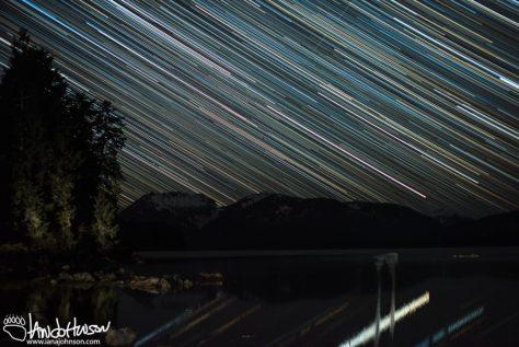 Star Trails, Alaska, Hoonah
