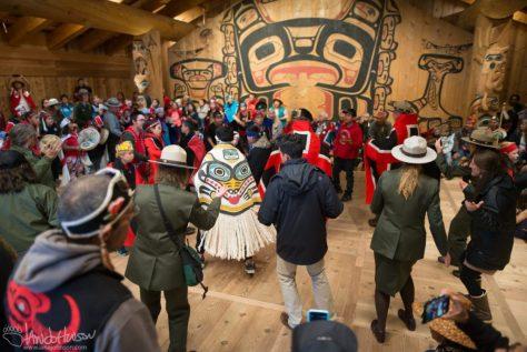 Dance, Park Service, Healing Pole, Hoonah Tlinight