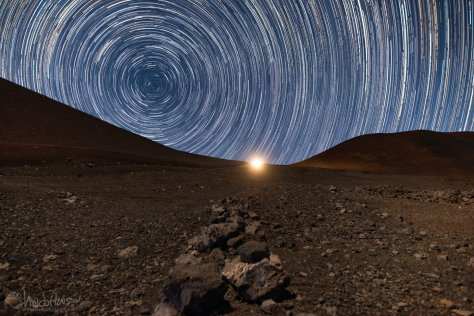 Hawaii, Mauna Kea, Stars, Star Trails