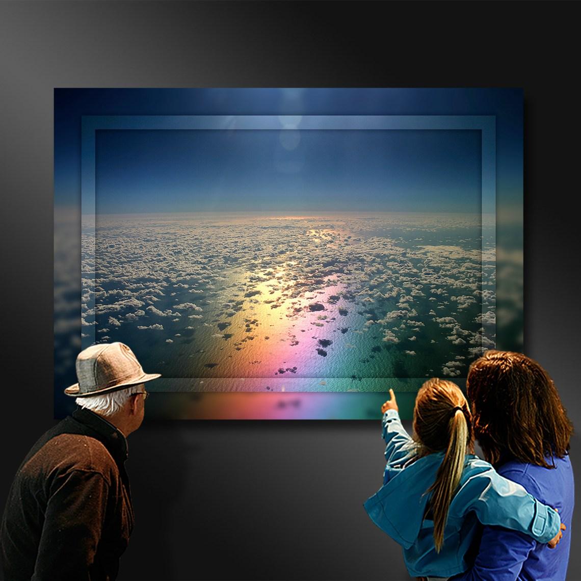 Rainbows end where the earth and heaven meet