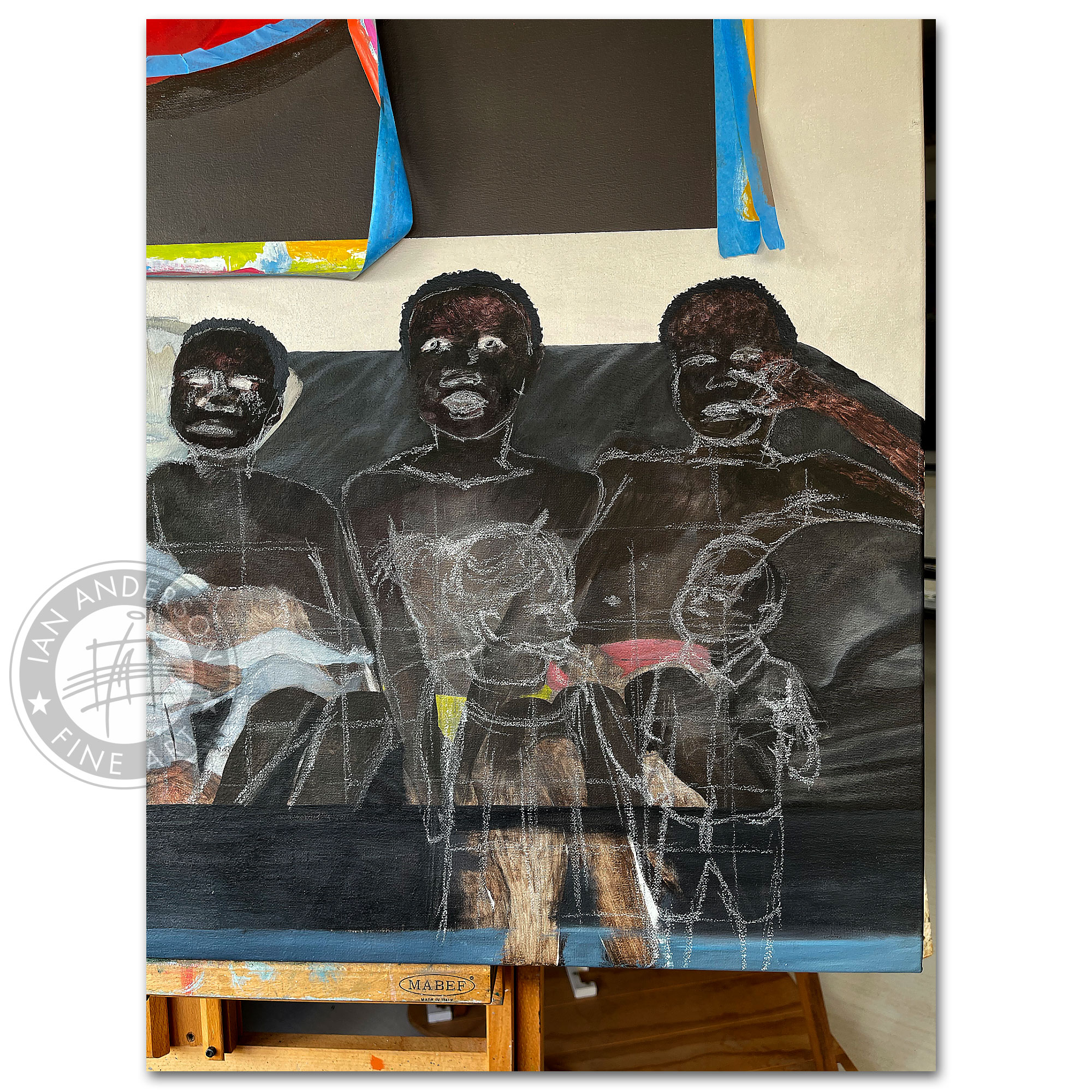Blood veins peace prejudice The story of love and diversity - A provocative oil painting on ethnic diversity 3