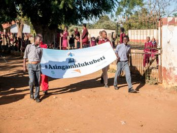 The parade leaves Swazi High School