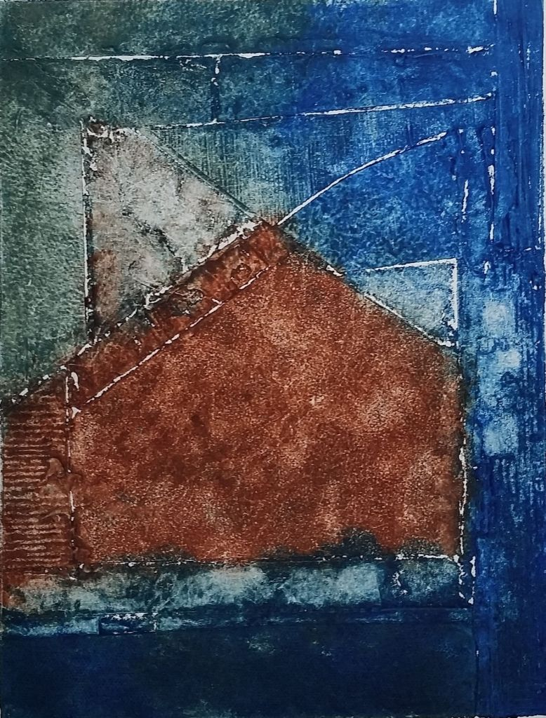 From Westport to Ocean Park a collagraph print
