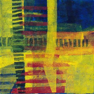Abstract monotype print