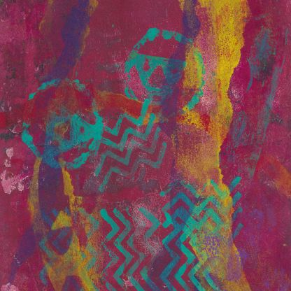 Pictographs - monotype print inspire by Native America pictographs