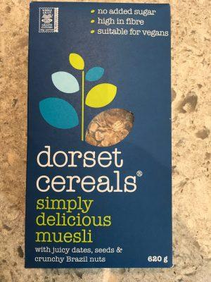Dorset museli, blue box