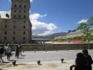 Outside the Monastery of El Escorial.