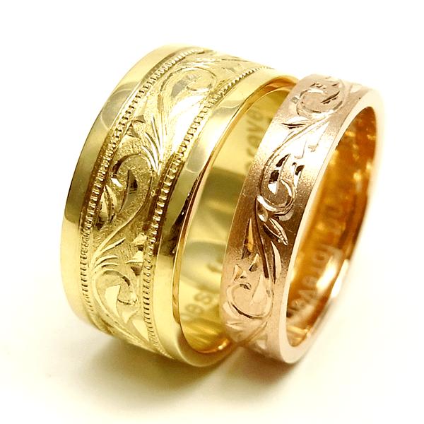 指輪への手彫り加工例はコチラ