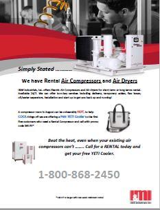 Email Flyer Compressor Rental Program
