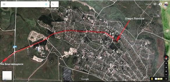 Карта с нашим маршрутом (выделено красным цветом). Карта Google
