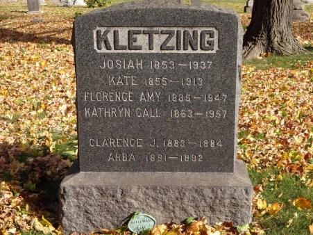 KLETZING Josiah gravestone from findagrave
